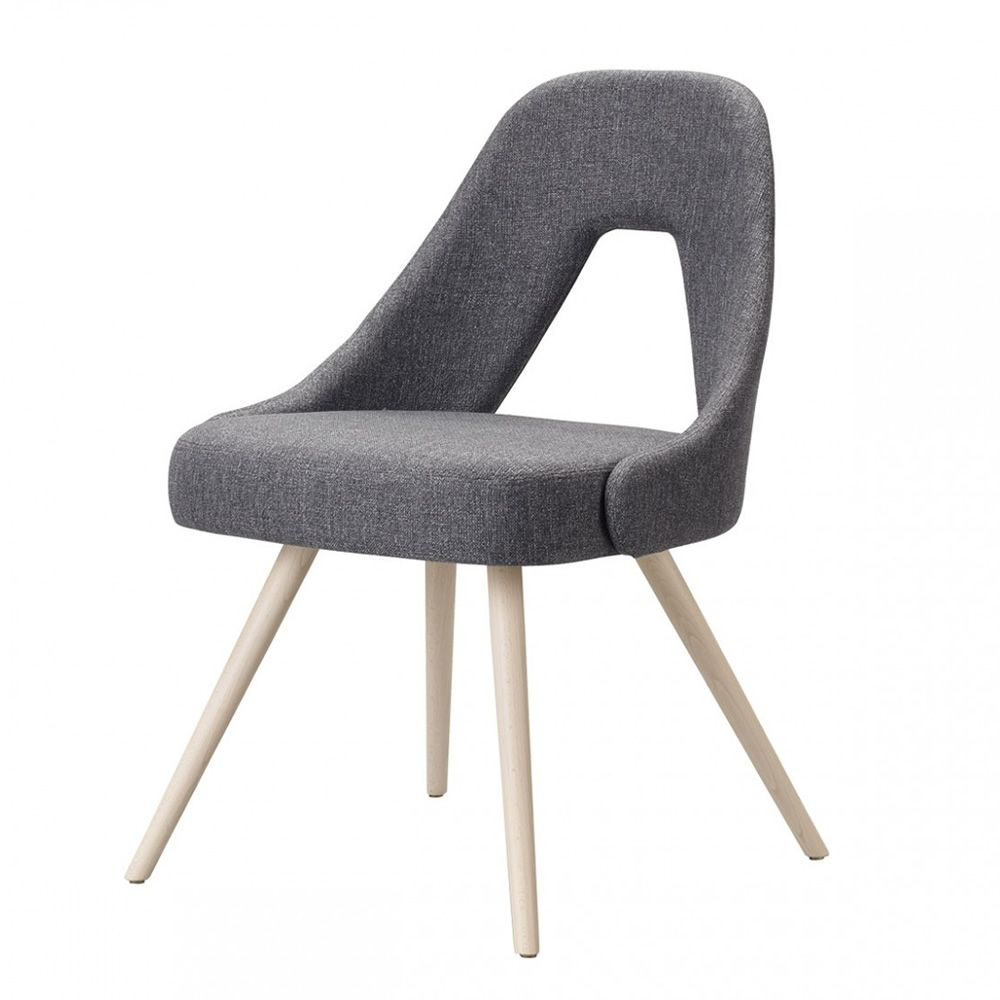 Me 2804 chaise en bois assise et dossier rembourr s for Chaise moderne couleur
