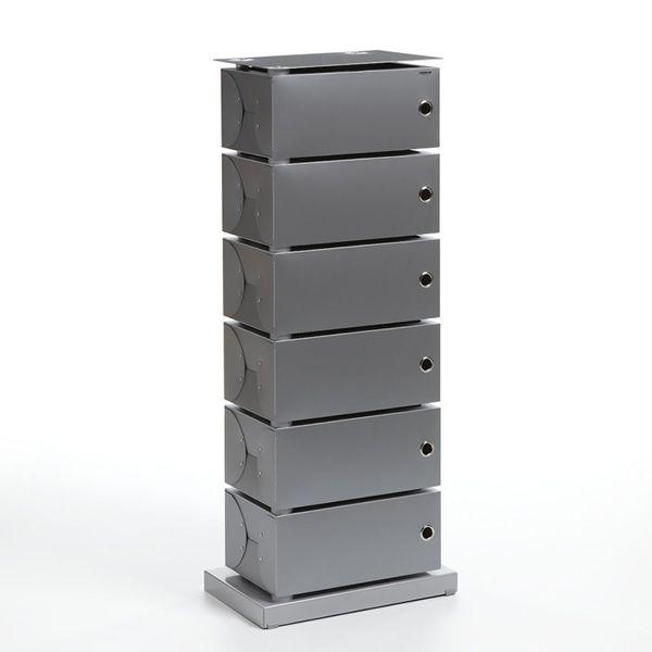 fluida drehbarer schuhschrank aus polypropylen mit fu bodenplatte aus metall oder holz in. Black Bedroom Furniture Sets. Home Design Ideas