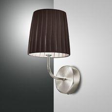 FA2960P1 - Lampada da parete in metallo e tessuto, diversi colori disponibili