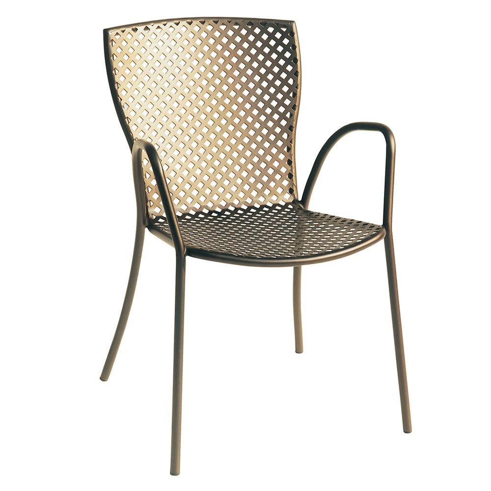 rig21p stapelsthul aus metall mit armlehnen in verschiedenen farben verf gbar f r die. Black Bedroom Furniture Sets. Home Design Ideas