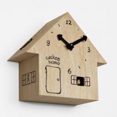 Cuckoo Home - Orologio da parete a cucù, in legno di betulla