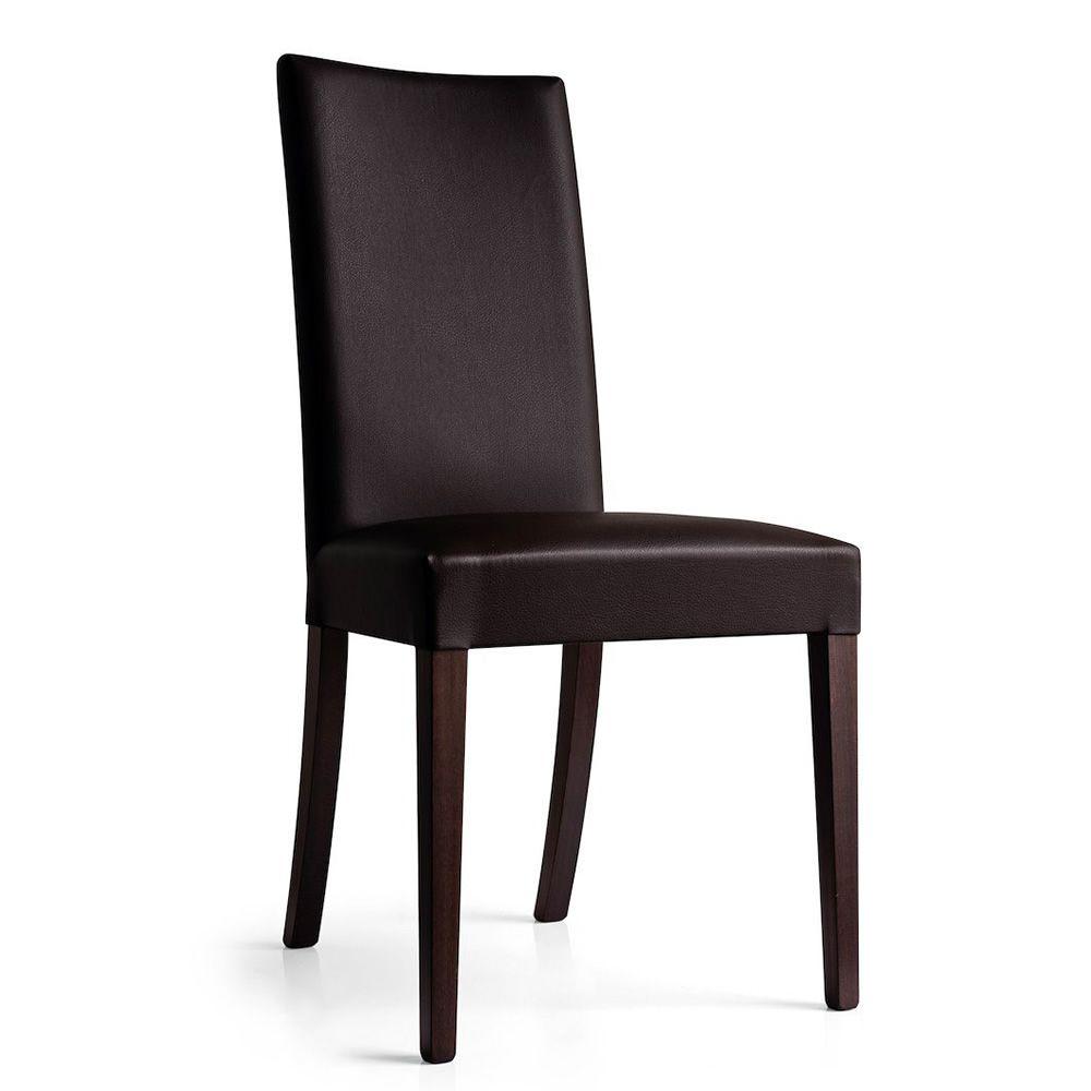Cb1656 copenhagen chaise connubia calligaris en bois - Chaise bois et simili cuir ...