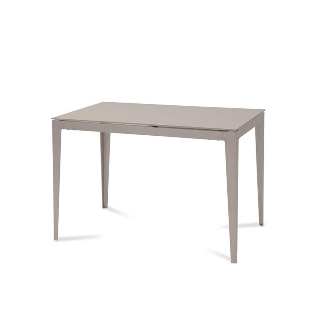 Wind 130 tavolo domitalia in metallo piano in vetro for Piano tavolo vetro