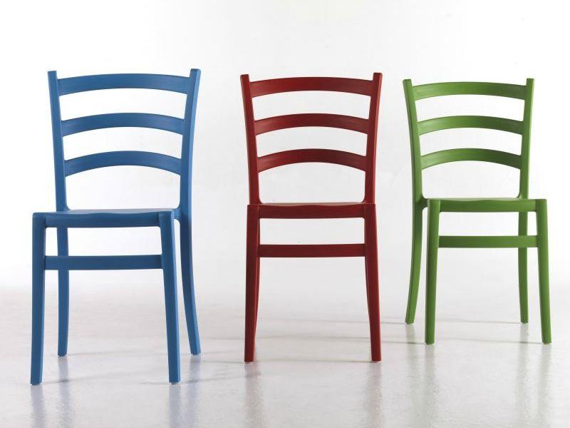 Italia 150 chaise colico en polypropyl ne empilable for Chaise design colore