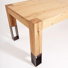 Acqua Alta - Designer Tisch Colico aus Holz, mit Beinen aus Holz und Metall, verlängerbar und rechteckig, in verschiedenen Größen verfügbar