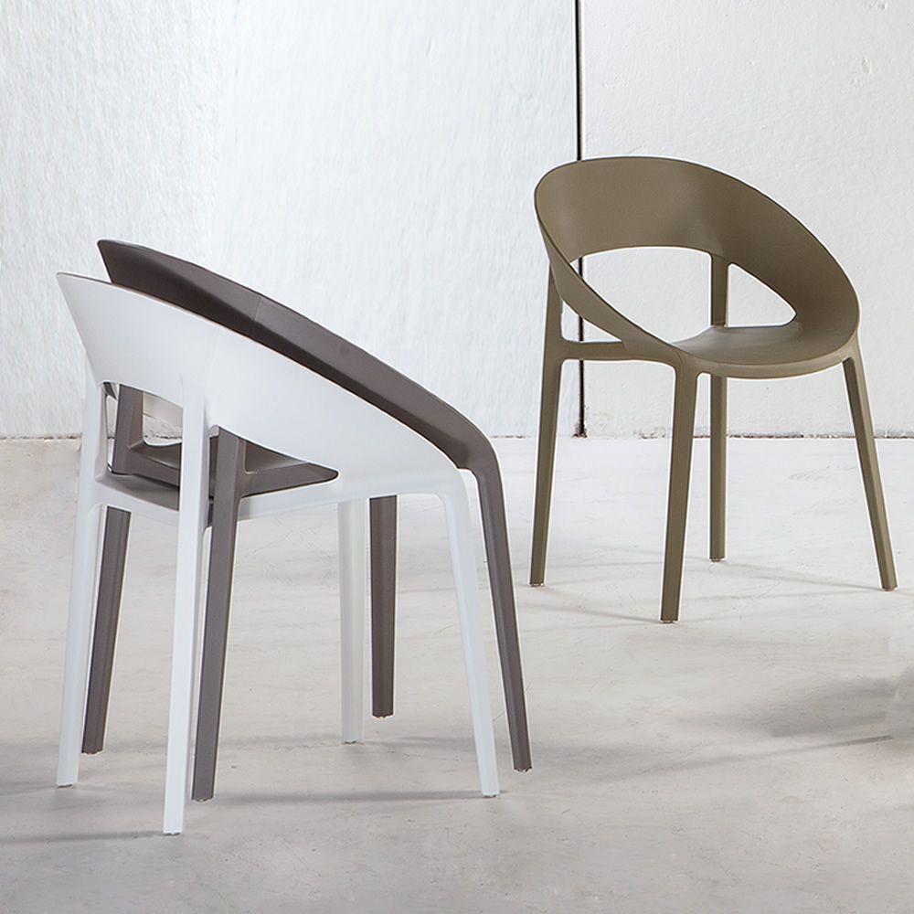 tt1061 sedia impilabile in polipropilene e fibra di