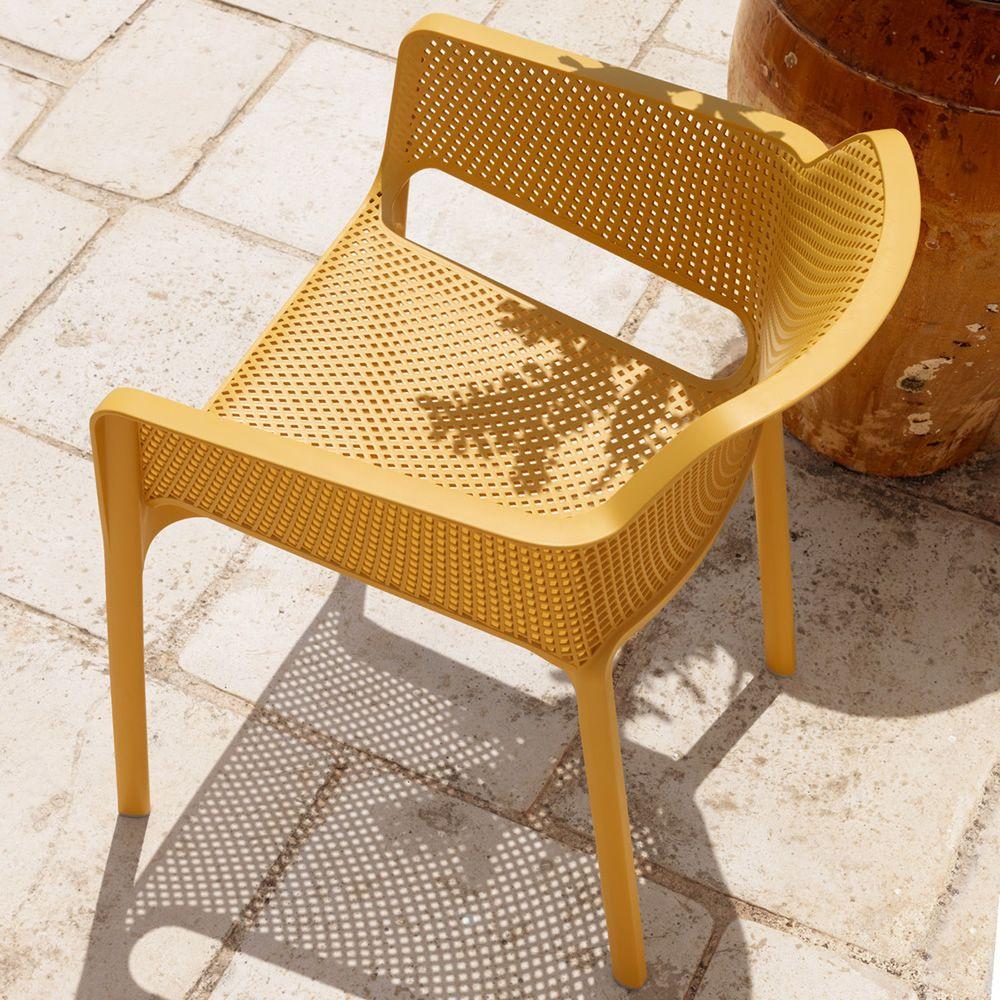 net fauteuil en polypropyl ne empilable id al l 39 ext rieur sediarreda. Black Bedroom Furniture Sets. Home Design Ideas