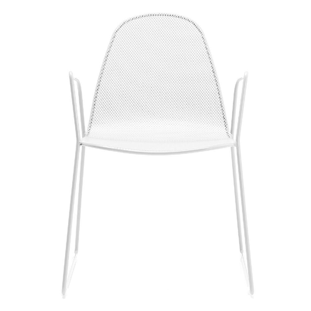rig16p stapelstuhl mit armlehnen aus metall f r den garten sediarreda. Black Bedroom Furniture Sets. Home Design Ideas