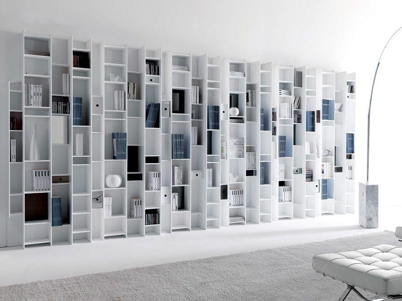 Byblos biblioth que murale modulaire en bois disponible en diff rentes coul - Bibliotheque murale blanc ...