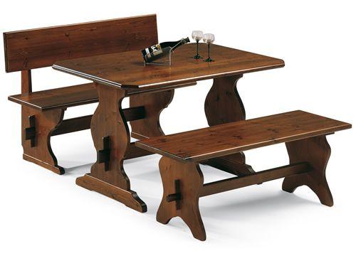 Fratino Fisso: Tavolo in pino, disponibile in diverse misure e colori - Sediarreda