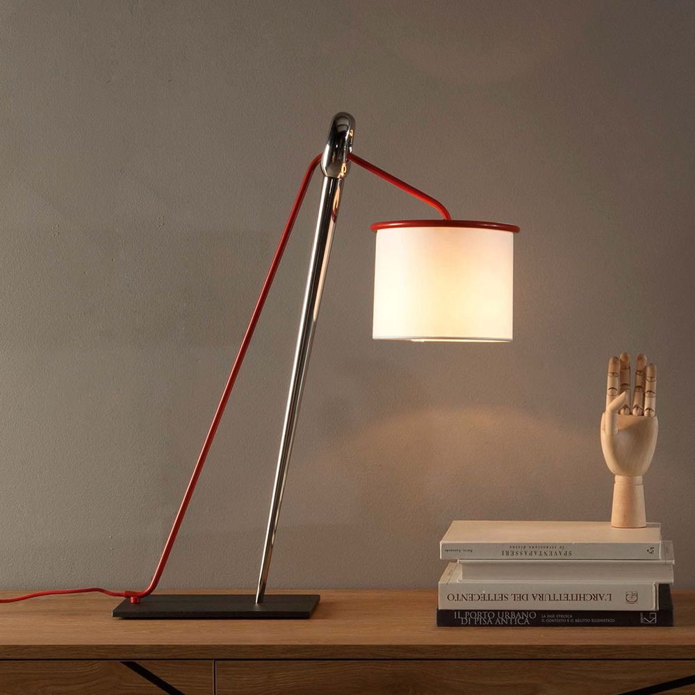 Ago E Filo 9105 Tonin Casa Table Lamp In Metal And Fabric