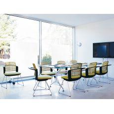 Sideways ® - Sedia ufficio ergonomica HÅG, impilabile, con schienale traforato