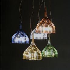 É - Lampada a sospensione Kartell in policarbonato ed acciaio, in diversi colori
