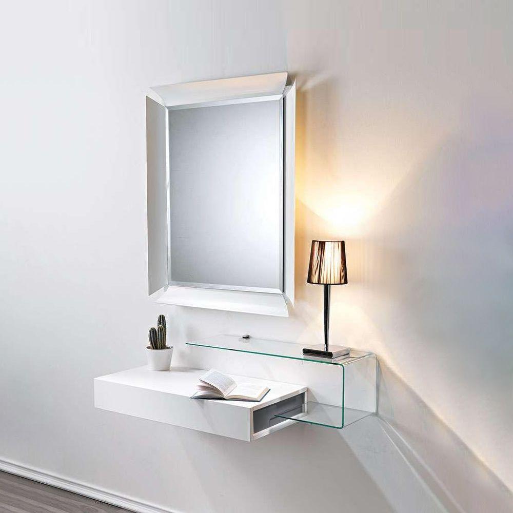Due v mobile ingresso con vano portaoggetti specchio e mensola in vetro sediarreda - Mobili per ingresso mercatone uno ...