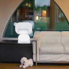 Pure Promo - Slide polyethylene table lamp, also for garden