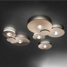 Bugia - Plafonnier design, en métal et plexiglas, à LED, disponible en différentes dimensions et couleurs