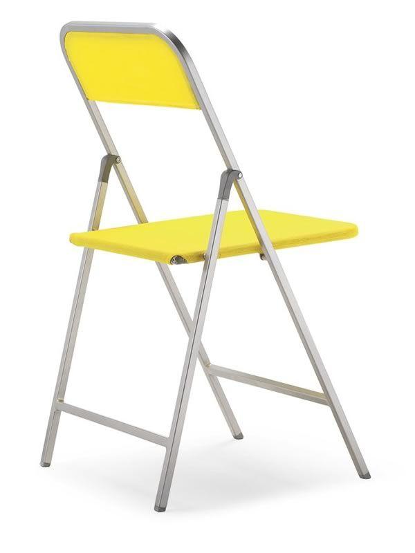 398 sedia pieghevole in metallo rivestimento in rete for Sedia ufficio gialla