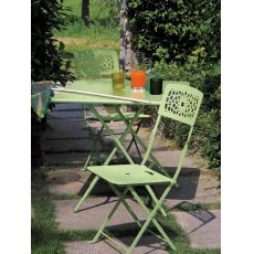 Gala 2526 - Folding steel chair for garden, available in several colours