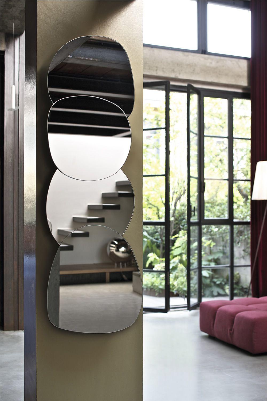 Ciotolo miroir design bontempi casa compos de 3 ou 4 for Miroir baroque grande taille