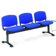 ML100 Panca M - Bench for waiting room with upholstered and covered seats, 3 places, different fabrics in various colors
