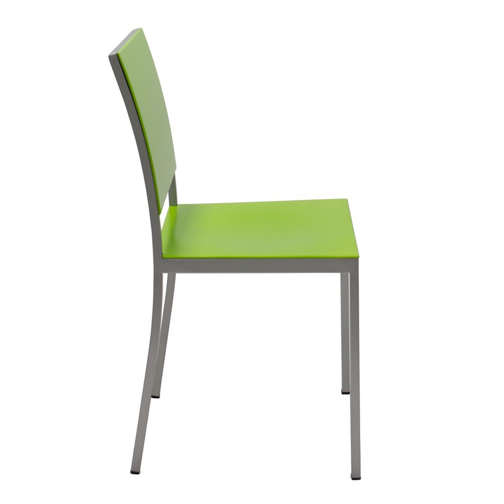 372 sedia in metallo con seduta e schienale laccato for Sedia a dondolo verde