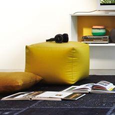7300 Truly - Pouf Tonin Casa in similpelle o tessuto, diversi colori disponibili