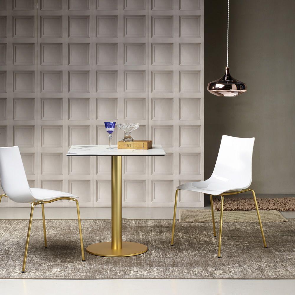 Zebra 2273 per bar e ristoranti sedia bar in metallo e for Sedie in policarbonato