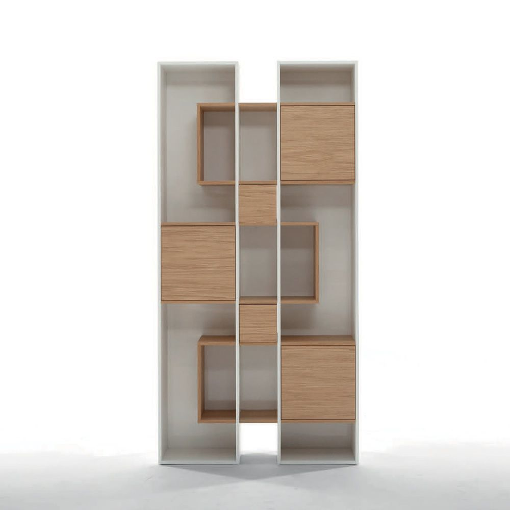 abaco 7243 biblioth que tonin casa en bois en diff rentes couleurs sediarreda. Black Bedroom Furniture Sets. Home Design Ideas