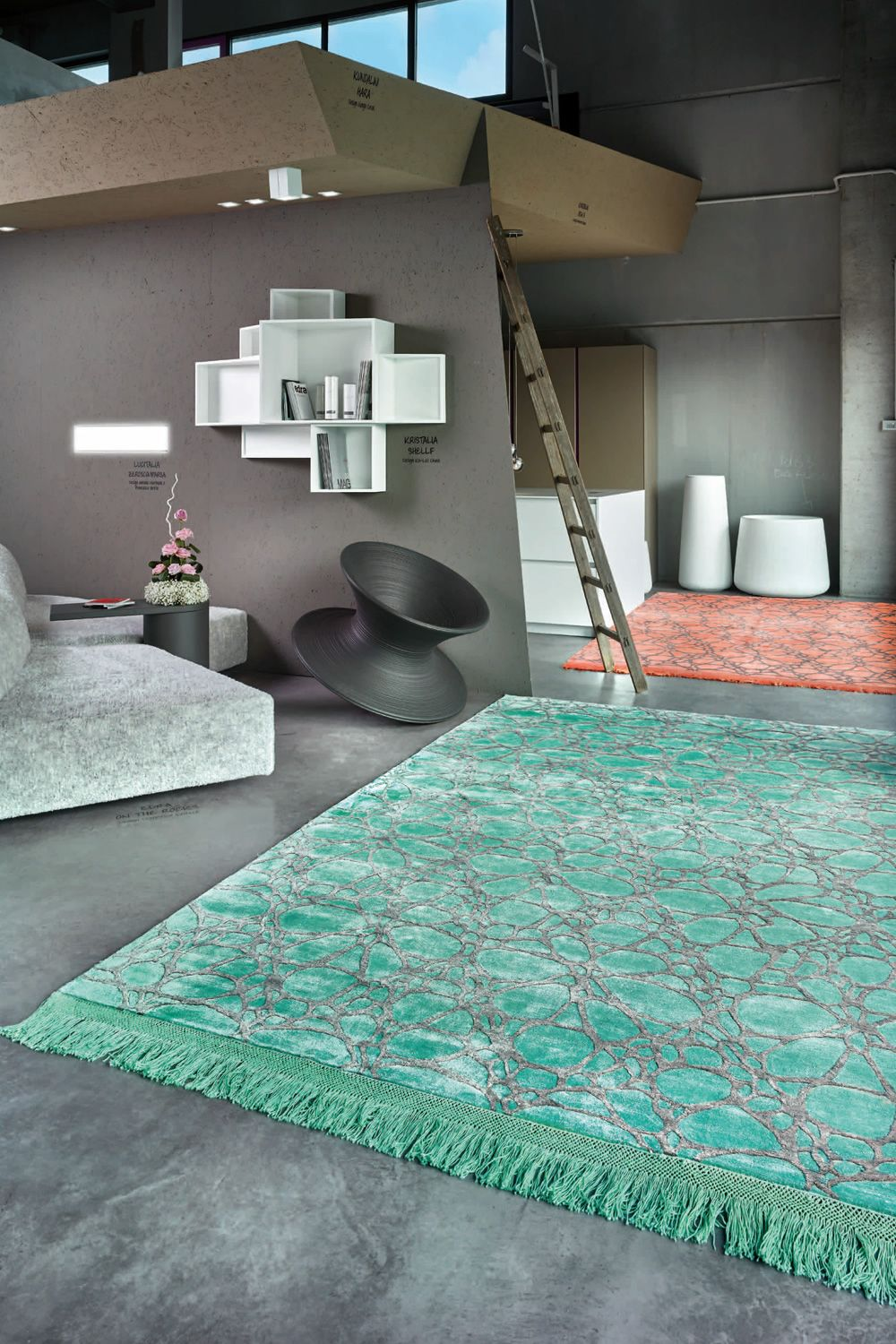 Arlecchino night tappeto design in seta vegetale disponibile in diverse misure e colori - Bagno color pesca ...