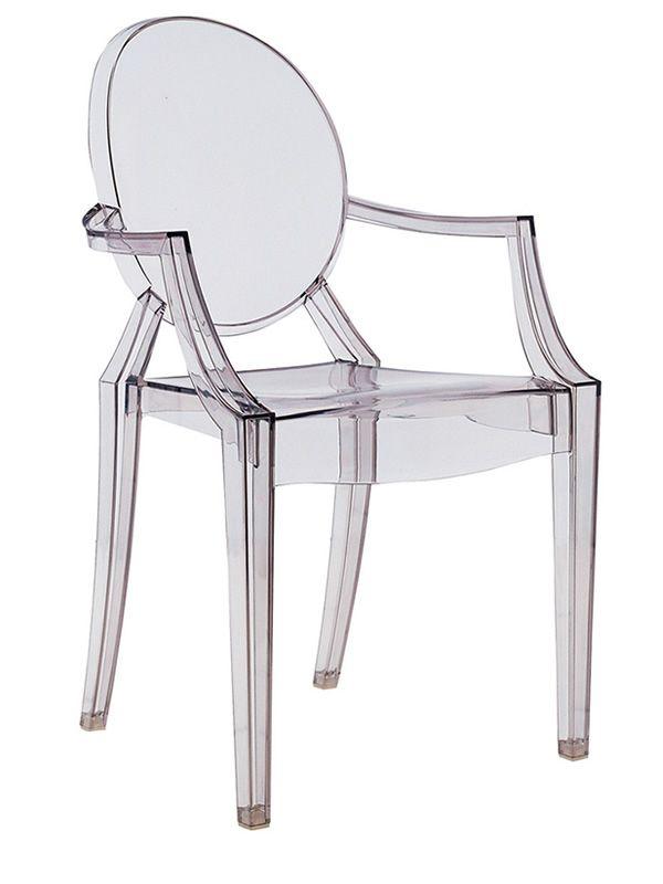 Louis Ghost: Kartell design armchair, transparent or full colour ...