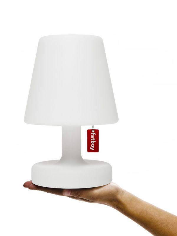 Edison the petit lampada da tavolo fatboy in polipropilene bianco a batteria ricaricabile - Lampada led da tavolo ricaricabile ...