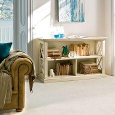 Alina 1485 - Libreria bassa classica Tonin Casa in legno, diverse finiture disponibili