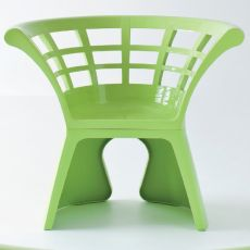 Flower - Design armchair in technopolymer, for outdoor, available in different colours
