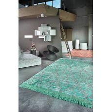 Arlecchino Night - Designer Teppich aus Pflanzenseide, in verschiedenen Größen und Farben verfügbar