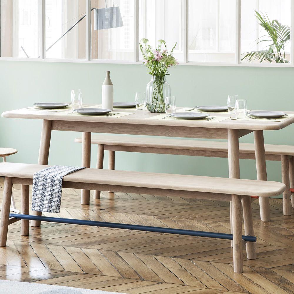 H l ne tavolo allungabile in legno e metallo sediarreda for Tavolo legno metallo