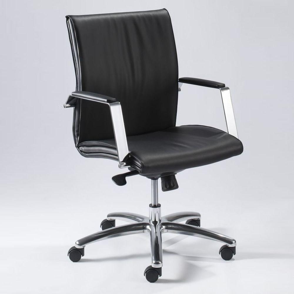 Ml508 poltrona direzionale da ufficio in pelle o for Poltrone x ufficio