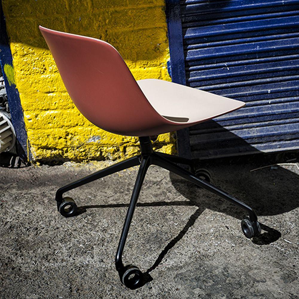 Pure Loop Binuance R   Swivel Chair Made Of Black Varnished Metal, ...