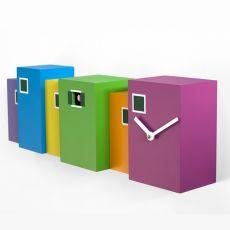 Burano - Orologio a cucù di design, in legno multicolore