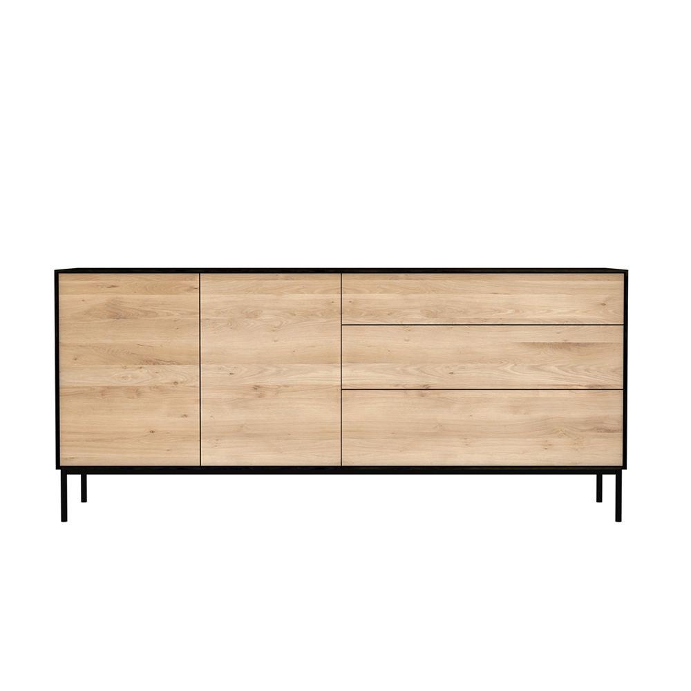 blackbird buffet ethnicraft en bois avec portes et tiroirs sediarreda. Black Bedroom Furniture Sets. Home Design Ideas