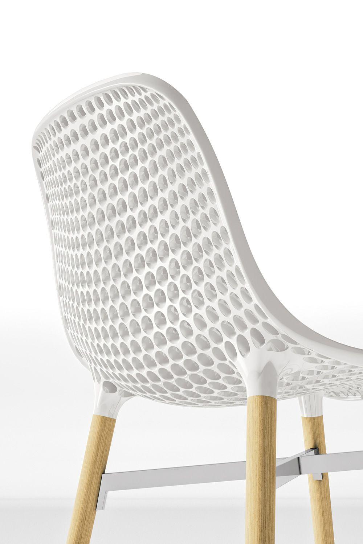 Hetre Bois Traduction : Next – Chaise de design avec pieds en bois h?tre et assise perc?, en