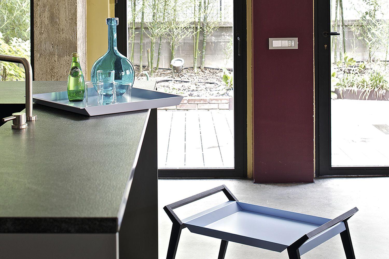 tiffany table basse design de bontempi casa quip e de structure en bois et plateau en acier. Black Bedroom Furniture Sets. Home Design Ideas