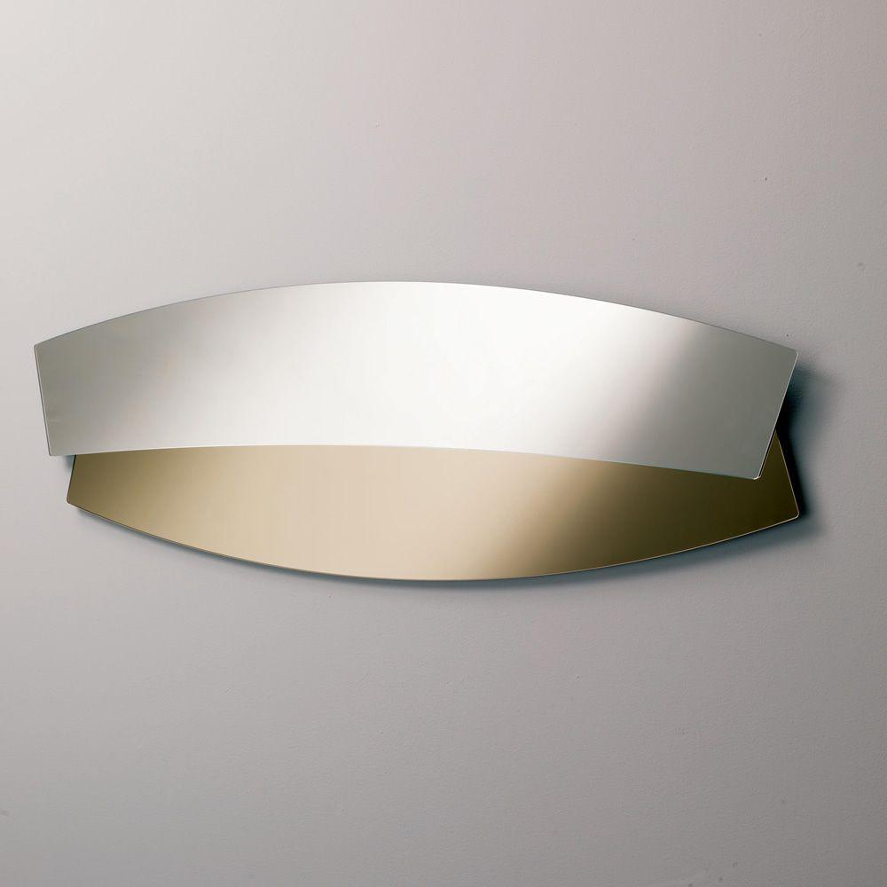 Double espejo bontempi casa perfilado bicolor colocable for Espejo horizontal