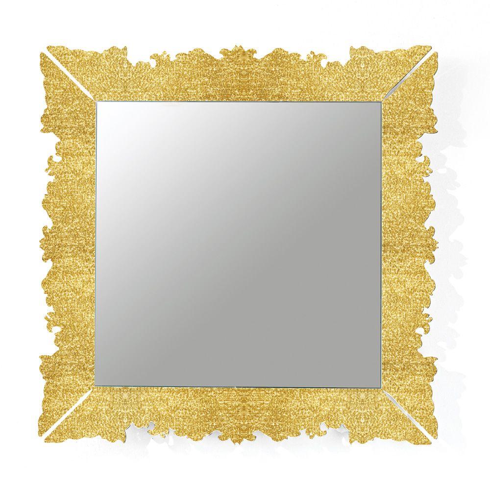 Novecento Q: Quadratischer Spiegel von Colico Design, 90x90 cm, aus ...