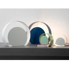 Chiocciola - Lampada da tavolo di design in metallo, disponibile in diversi colori e dimensioni