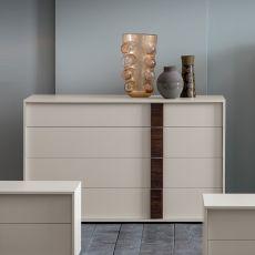 Flipper - Cajonera Dall'Agnese en madera, disponible en distintos acabados, cuatro cajones