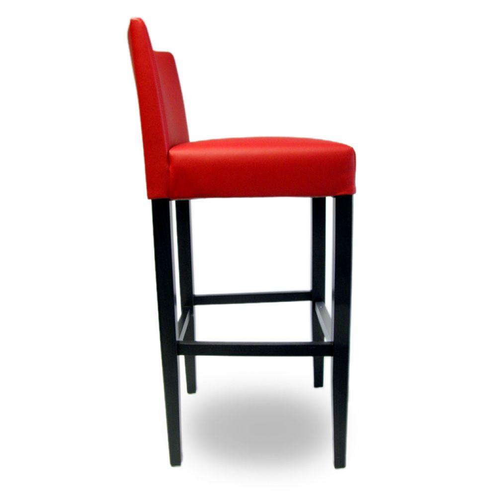 stool 396 haut tabouret en bois fix hauteur d 39 assise 79 cm avec assise et dossier. Black Bedroom Furniture Sets. Home Design Ideas