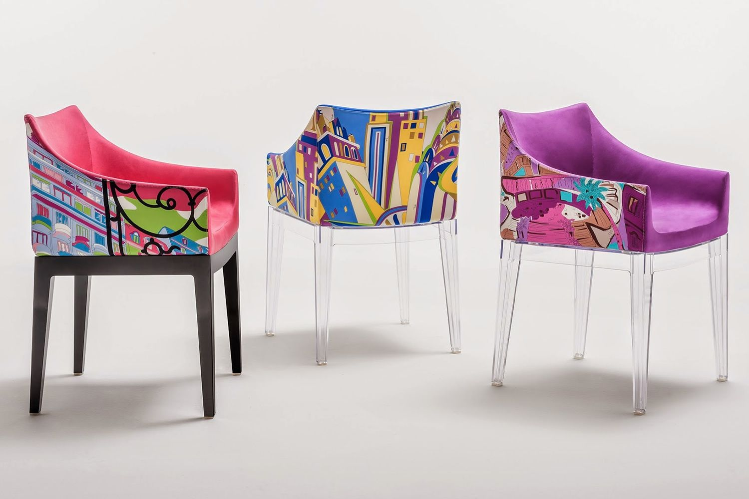 Madame pucci edition kartell design armchair world of for Chaise fauteuil