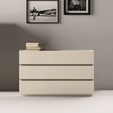 Super - Commode Dall'Agnese en bois, disponible en différentes finitions, trois tiroirs