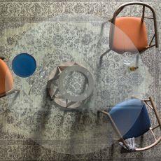 Acco LV - Tavolo Miniforms in legno, piano in vetro, diverse dimensioni disponibili