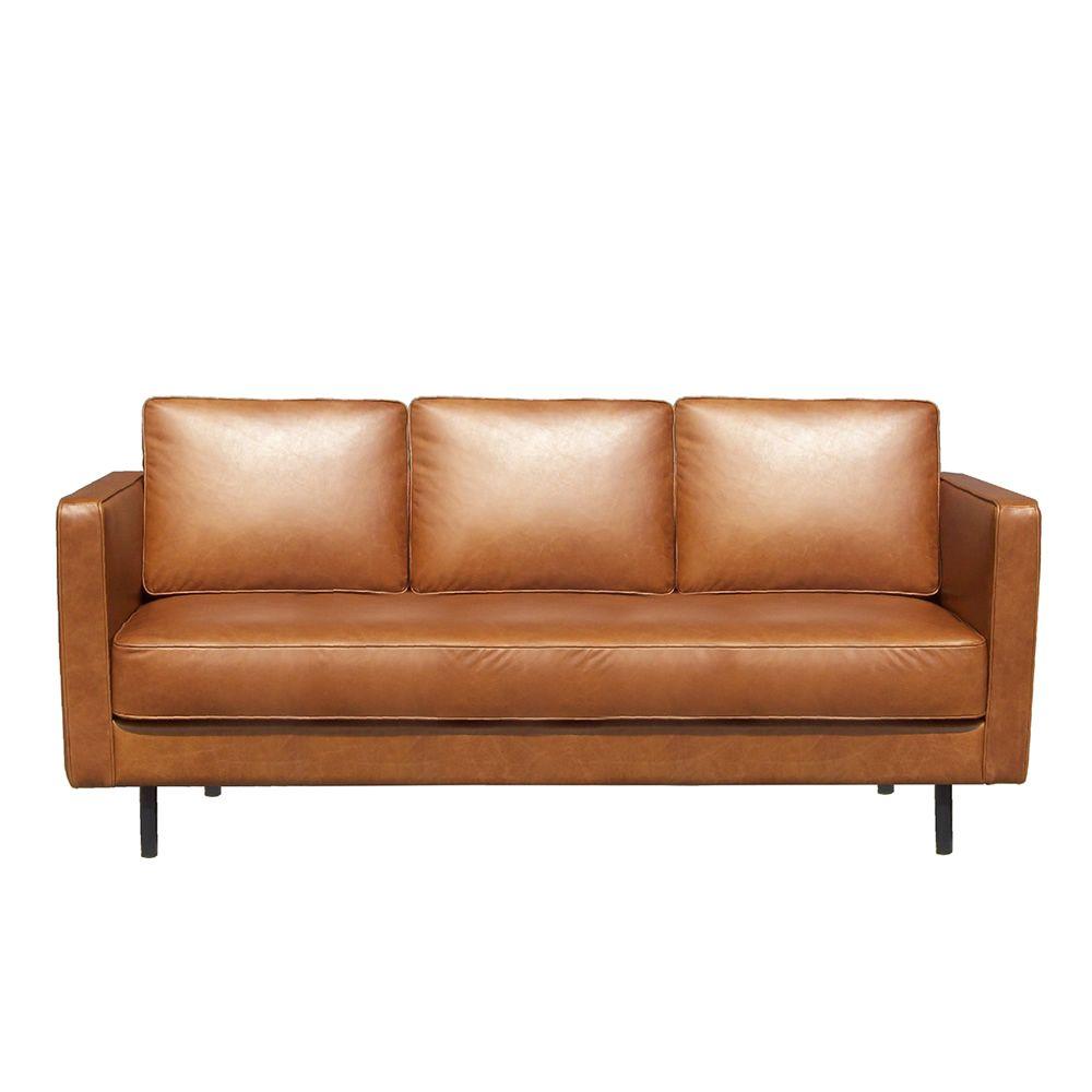 N501 sof ethnicraft de 3 plazas acolchado y tapizado en - Sofa piel vintage ...